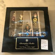 Christopher Radko Andldquoand Snowy Makes 8andrdquo Limited Edition Set Of Ornaments/1995
