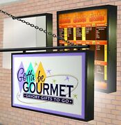 Led Illuminated 4and039x5and039 -9 Lightbox Double 2 Sided Outdoor With Sign Graphics