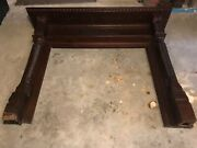 Large Antique Solid Wood Fireplace Surround/mantel Salvage 1890s