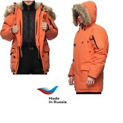 New Mens Down Arctic Parka Dixon Made In Russia. -80с Extreme Cold . Waterproof.