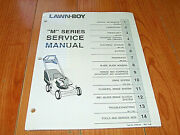 Vintage Lawn Boy M Series Lawn Mower Service Manual Oem. Nos. Sealed In Wrapper