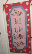 Christmas Holiday Door Hanging Banner Tis The Season Size L44 X W 22.5