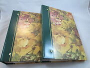 Photo Albums 3 Ring Pocket Storage Case 4x6 Picture Book Floral Set Of 4