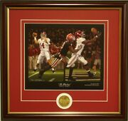 Alabama Football Julio Jones The Blackout Framed Print And Coin By Daniel Moore