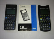 Texas Instruments Ti82 + Ti83 Graphing Calculators + 1 Manual Tested Works Good
