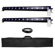 American Dj Ub 12h 41.75 Linear Wash Lights 2 Pack + Cables + Carry Case