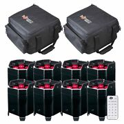 8 American Dj Element Hex Battery Powered Wireless Led Pars Package