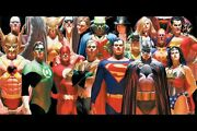 Alex Ross Justice League Silk Canvas Fabric Poster 36 X 24 Approx