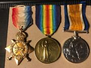 Wwi British War Victory Star Medal Trio Pvt James Ranson Ryl Marine Light Inf