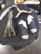 Triumph Speed Triple 1050 Oem Stock Header Y-pipe And Silencers