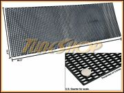 Plastic Abs Universal Black Sport Mesh Grill Grille Car Stock Oe Style 15x46 C