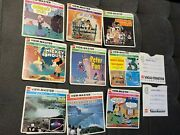 Viewmaster Toy Reels Mix Lot And Disney Gaf Peter Pan-23 Reels W/ Some Booklets