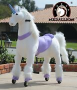 Medallion - Ride On Rocking Walking Horse Pony For 5 To 12 Years Old Pp Unicorn