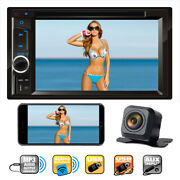 Sony Lens Camera + Double 2din Car Stereo Radio Dvd Player Tv Mirrorlink For Gps