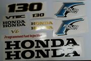 Honda 130 Hp Outboard 4-stroke Decal Kit Fourstroke Reproduction 13 Decal Set