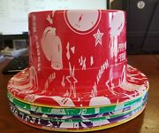 66 Hats Happy New Year Assorted Plastic Party Top Hats Casinos/parties/bars