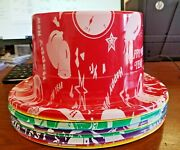 36 Hats Happy New Year Assorted Plastic Party Top Hats Casinos/parties/bars