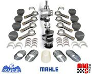 Balanced Forged Rotating Assembly W/ Mahle Pistons For Early Chevrolet Sbc 383