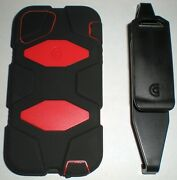 Griffin Survivor Military Rugged Case Iphone 5/5s, With Clip, Red And Black