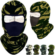 Face Mask Hat One Hole Balaclava Hood Tactical Camo Full Mouth Nose Cover Lot