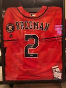 Houston Astros Alex Bregman Signed Framed Jersey Nwt Plus Free Autograph Gift