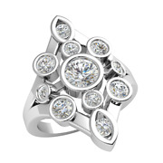 1.25ct Real Round Diamond 14k Gold Engagement Ring For Women Bezel Retro Gh Si2
