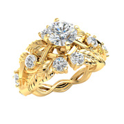 1.6ct Genuine Round Diamond 14k Gold Engagement Ring For Women Solitaire Gh I1