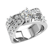 1.4ct Round Natural Diamond 10k Gold Engagement Ring For Women Solitaire Gh Si1