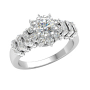 1.15ct Round Natural Diamond 18k Gold Engagement Ring For Women Solitaire H Si2