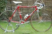 Red Rare Gios Professional Campagnolo 55cm Gios Columbus Slx Eroica Orig Paint