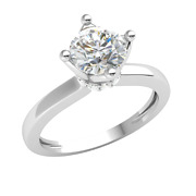 1ctw Round Genuine Diamond 14k Gold Engagement Ring For Women Solitaire Gh I1