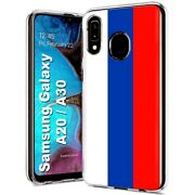 Thin Gel Phone Case Samsung Galaxy A20,russia Country Climate Nationality Print