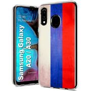 Thin Gel Phone Case For Samsung Galaxy A20,oldflag Russia Country Climate Print