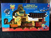 Disneyand039s Toy Story 2 Deluxe Talking Remote Control Train Set Rare-new