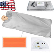 Far Infrared Thermal Sauna Blanket Heating Therapy Slim Weight Loss Detox Spa