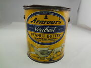 Armourand039s Veri Best Peanut Butter Tin Vintage Collectible Advertising 638-o