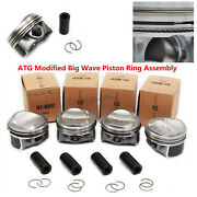 Pistons Rings Oversize +0.25mm Φ23mm Fit For Audi A3 A4 A5 Vw Beetle Golf1.8tsi