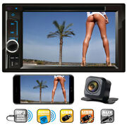 Sony Len Camera +double Din Car Stereo Radio Dvd Player Usb For Ford F-150 F-350