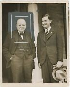 1 October 1937 Press Photo Of Winston Churchill With Ernst Bohle In London
