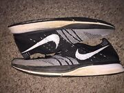 2012 Flyknit Trainer Black And White Oreo Mens Size 9