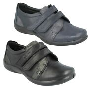 Padders Ladies Piano Wide Fitting Flat Leather Casual Everyday Soft Shoes Size
