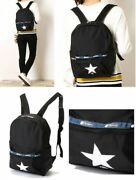 Converse Tokyo X Lesportsac Japan Exclusive Backpack Black And Mirage Japan Ems