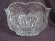 Vintage New Oneida Crystal Spring Lace Floral 10 Bowl Germany Discontinued