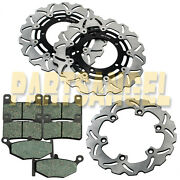 F+r High Quality Brake Rotor + Pads For Gsx 1300r Hayabusa 2008-2013motorcycle
