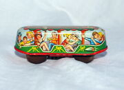 Vintage Tin Litho Wind Up Car  Made In Western Germany