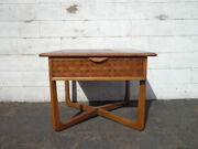 Mid Century Modern Table Lane Perception Accent End Table Storage Walnut Wood