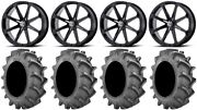 Msa Black Diesel 22 Wheels 37x8.3 Bkt 171 Tires Sportsman Rzr Ranger