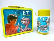 1982 E.t. The Extra-terrestrial Vintage Metal Lunch Box With Thermos