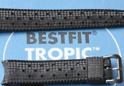 3 Sold Genuine Swiss Tropic 19mm Curved Ends Swiss Vintage Dive Watch Band 1960s
