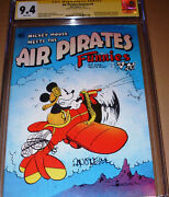 Air Pirate Funnies 1 Cgc Ss Signed Dan O'neill Hell 1971 Mickey Mouse Disney Ban